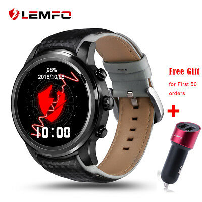 Lemfo LEM5 Bluetooth Wireless SIM GPS Wrist Smart Watch Phone For Android IOS