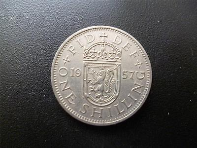1957 Scottish Shilling Coin, In Good Used Condition, Copper Nickel.1957 Shilling