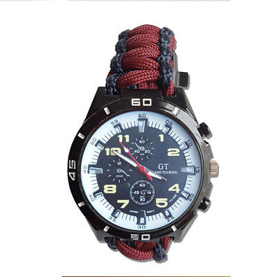 Paracord Watch with Royal Engineers (RI) Colours a Great Gift