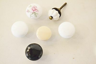 Mixed Lot VINTAGE CERAMIC Porcelain Drawer Knobs Pulls ~ Craft Project K55