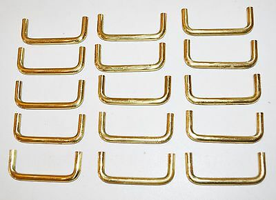 Vintage MODERN SLIM Style BRASS Cabinet Drawer Pull Handle LOT of 15 K60