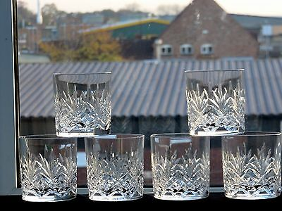 Doulton International Crystal Cut Glass Whisky Tumblers Set Of 6