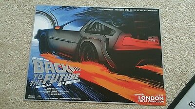 Back to the Future Limited Edition Poster 30th Anniversary Comic Con