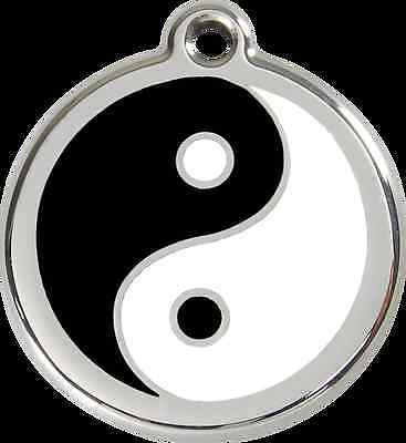 médaille chien ou chat red dingo ying yang 3 tailles
