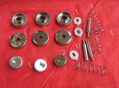 Euphonium Repair parts Top valve cap /Finger Button/Stem/Bottom Valve cap/ sprin