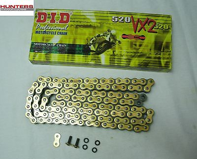 Yamaha MT03 (2006 to 2012 Models) DID Gold X-Ring Chain 520VX112