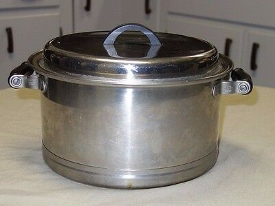 Vintage Lifetime Stainless Steel Stock Pot Dutch Oven With Lid 6 QT 1950's