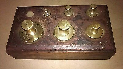 Antique Apothecary Pharmacy Balance Scale Weight Set