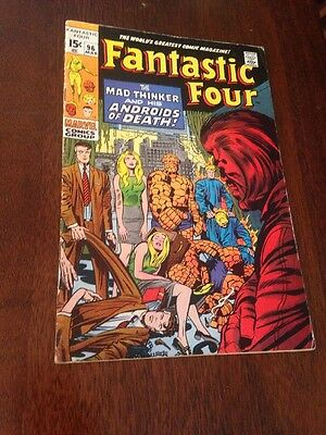 Marvel Fantastic Four Issue #96 (Mad Thinker) March 1969) BV $95!