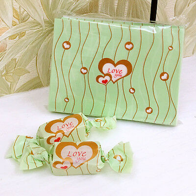 100pcs love you wax paper handmade Candy Chocolate packaging soap Wrapping paper