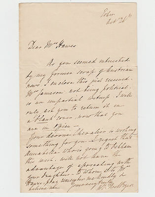 BYRON' Lady Anne Isabella (1792-1860) Autograph Letter Signed
