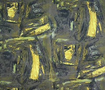 vintage 1950s Francis Price Aurora abstract art screenprint cotton fabric piece