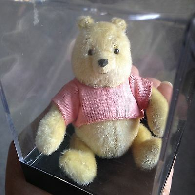 """3"""" Dollhouse Miniature Artist Jointed  Pooh Bear By Carol Stewart In Box No Res"""