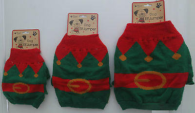 Dog Elf Jumper Christmas Costumes Dogs Fancy Dress Xmas Elfs Outfit Pooches Pets