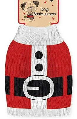 Xmas Jumper For Dogs Christmas Costumes Santa Fancy Dress Outfit Pooches Pets