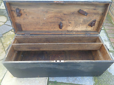 vintage(1940s) large wooden tool box