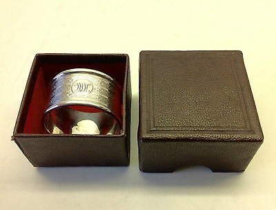 Solid Silver Boxed Napkin Ring Chester.