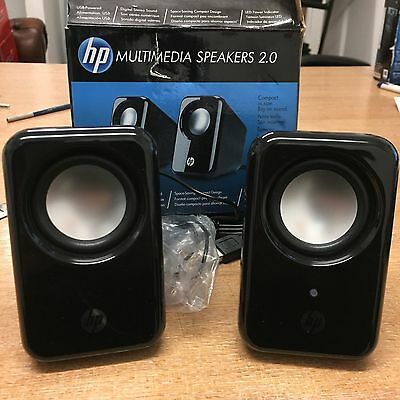HP Multimedia USB 2.0 Speakers Perfect For Pc And Laptop.