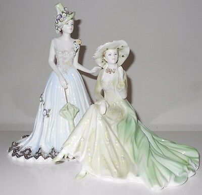 Rare Coalport Double Figurine Day at the Races not worcester romany interest