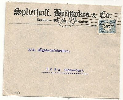 Cover Pays Bas Netherlands Rotterdam To Nora Sweden. L489