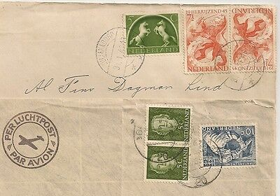 2 Covers Pays Bas Netherlands Julianadorp Voorburg To Sweden. L496