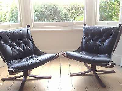 Falcon Chairs by Sigurd Resell for Vatne, 1970s, Set of 2