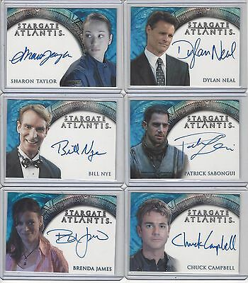 Ghost Whisperer / Stargate / SGU / Farscape Costume Autograph Lot - your choice