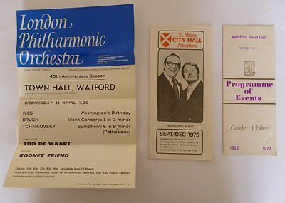 THREE THEATRE PROGRAMMES FROM THE 1970s