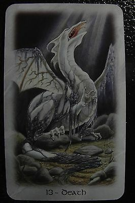 13-Death The Celtic Dragon Tarot Single Replacement Card Excellent