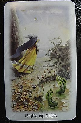 Eight of Cups Celtic Dragon Tarot Single Replacement Card Excellent Condition
