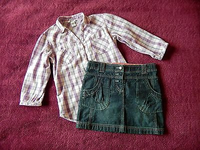 H&M Girls Outfit (Shirt + Skirt) age 10-11 years