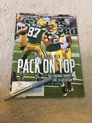 Jordy Nelson Green Bay Packers Football Signed Sports Illustrated Magazine
