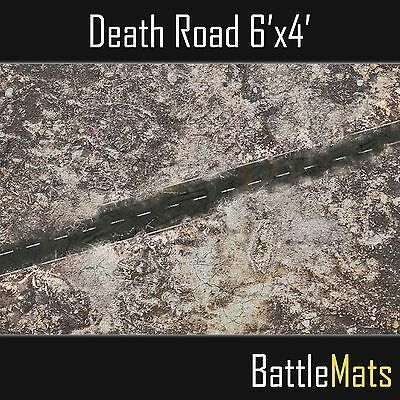"Gaming Battle PVC mat 6'x4' ideal for Warhammer 40k ""Death Road"" terrain image"