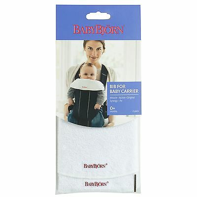 BabyBjorn Baby / Child Carrier Bib/Cover, In White 2-Pack