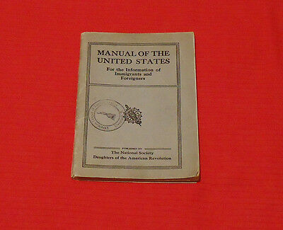 Vintage Manual of the United States for Immigrants & Foreigners - Ukrainian CLE