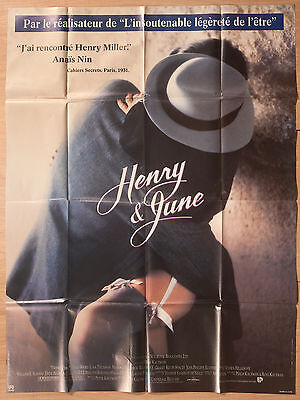 """'HENRY & JUNE' FRENCH 1990 CINEMA POSTER 63"""" x 47"""""""