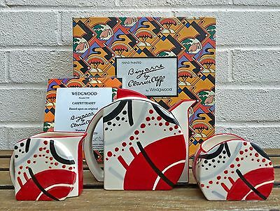CLARICE CLIFF by WEDGWOOD -CARPET TEASET- LIMITED ED BIZARRE COFFEE POT/JUG/BOWL