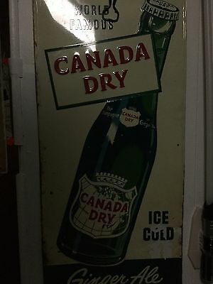 Rare Vintage Canada Dry Ginger Ale Sign