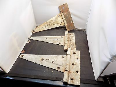 Vintage Cast Iron Hinges  Door Hinge Antique Great Patina