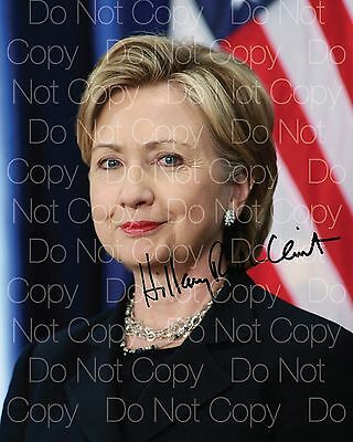 Hillary Clinton signed Democratic Party 8X10 photo picture autograph poster RP 3
