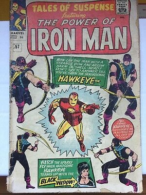Tales Of Suspense #57 GD+ (2.5) - First Appearance Of Hawkeye