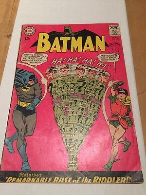Batman #171 VG- (3.5) First Silver Age Riddler Appearance