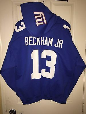 big sale 7453f 5d41c NY NEW YORK Giants Odell Beckham Jr. Jersey Style Hoodie Hoody Hooded  Sweatshirt