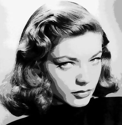 Beautiful Lauren Bacall Paint By Number Art Kit