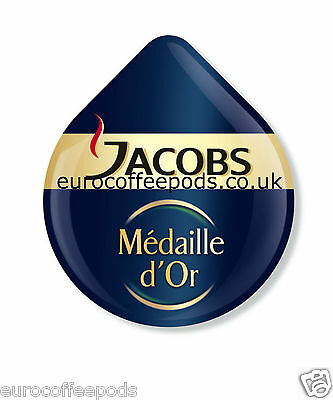 48 x Tassimo Jacobs Medaille Dor Coffee T-disc (Sold Loose)