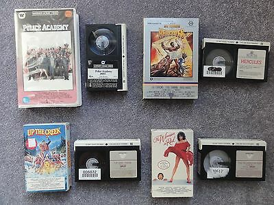 Betamax Lot Big Box Clamshell Police Academy Hercules Up The Creek Woman In Red