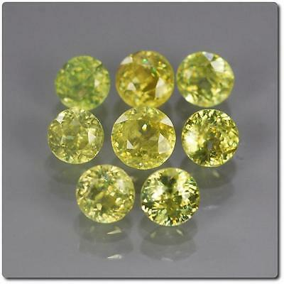 SPHENE MULTICOLORED 8 pieces 1.18 cts . SI1-I1. Madagascar