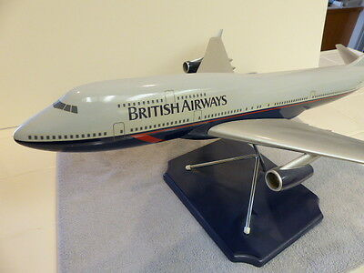 HUGE BRITISH AIRWAYS 747 PROFESSIONAL MODEL by SPACE MODELS - 27 inches long!