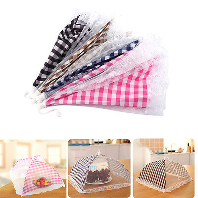 Colorful Pop-Up Mesh Screen Food Cover Tents Umbrella Screen  For Kitchen Rooms