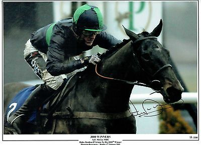 Horse Racing Legend A.P. McCoy signed and numbered print